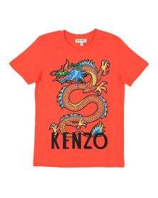 Kenzo Kids Boys Orange Gavin Japanese Dragon T Shirt