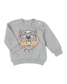 Kenzo Baby Girls Grey Girls Embroidered Tiger Sweatshirt