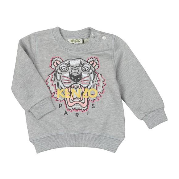 Kenzo Baby Girls Grey Girls Embroidered Tiger Sweatshirt main image