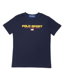 Polo Ralph Lauren Sport Boys Blue Boys Large Logo T Shirt