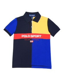 Polo Ralph Lauren Sport Boys Blue Boys Multi Panel Polo Shirt