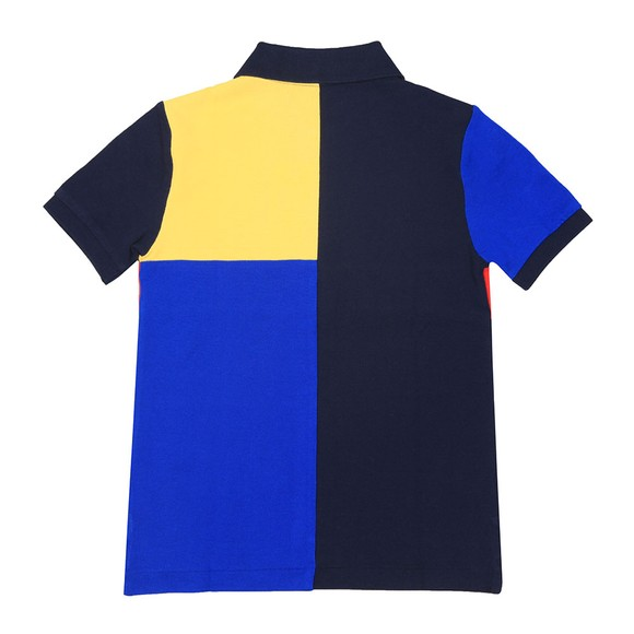 Polo Sport Ralph Lauren Boys Blue Boys Multi Panel Polo Shirt main image
