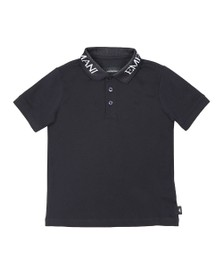 Emporio Armani Boys Blue Logo Collar Polo Shirt