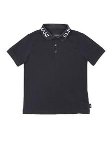 Emporio Armani Boys Blue Logo Collar Polo Shirt