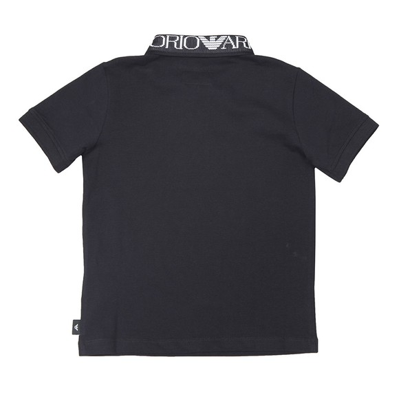 Emporio Armani Boys Blue Logo Collar Polo Shirt main image
