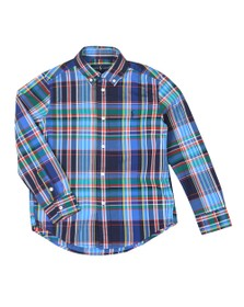 Polo Ralph Lauren Boys Blue Check Stretch Poplin Shirt