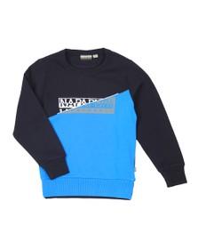 Napapijri Boys Black Baky Crew Sweatshirt