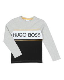 BOSS Boys Grey Boys J25E43 T Shirt