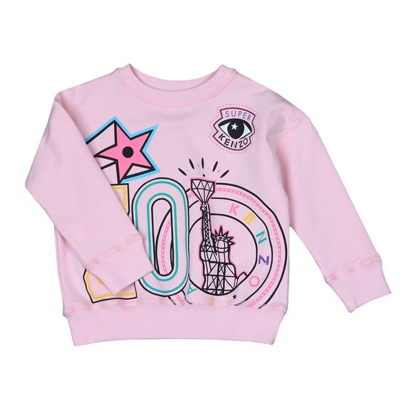 Kenzo Kids Girls Pink Guillema Super Kenzo Sweatshirt main image