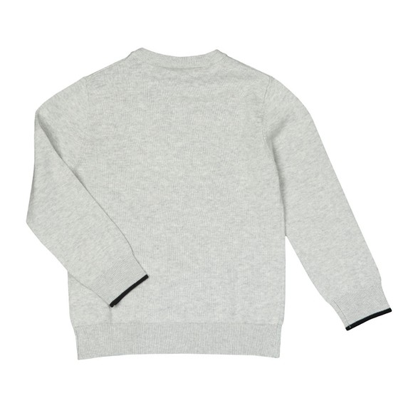 BOSS Boys Grey Boys Embossed Logo Jumper main image