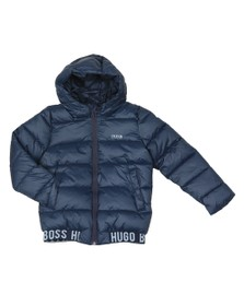 BOSS Boys Blue Boys J26387 Puffer Jacket
