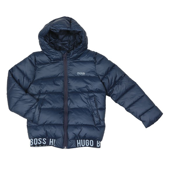 BOSS Boys Blue Boys J26387 Puffer Jacket main image