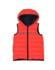 BOSS Boys Red Boys J26383 Reversible Hooded Gilet