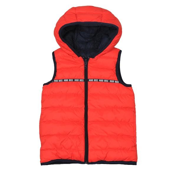 BOSS Boys Red Boys J26383 Reversible Hooded Gilet