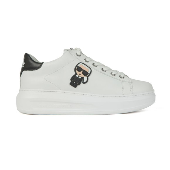 Karl Lagerfeld Womens White Kapri Karl Ikonic Trainer main image