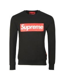 Supreme Italia Mens Black Pablo Large Box Print Sweatshirt