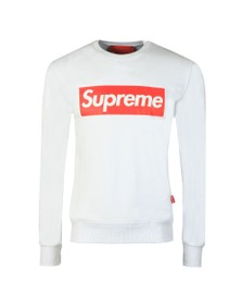 Supreme Italia Mens White Pablo Large Box Print Sweatshirt