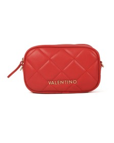 Valentino by Mario Womens Red Ocarina Crossbody Bag