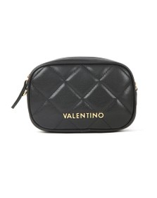 Valentino by Mario Womens Black Ocarina Crossbody Bag