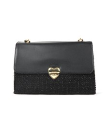Valentino by Mario Womens Black Guitar Satchel Nero Bag