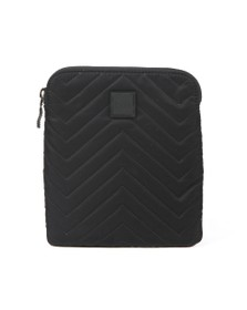 BOSS Mens Black Pixel Q_S zip bag