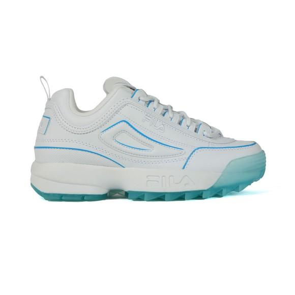 Fila Womens White/White/Crystal Sea Disruptor II  Premium Trainer main image