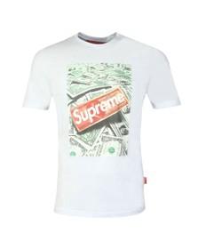 Supreme Italia Mens White Money Printed T Shirt