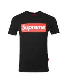 Supreme Italia Mens Black Italfigo Large Box Print T Shirt