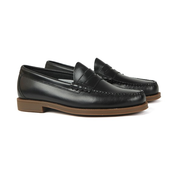 G H Bass & Co Mens Black Weejuns Larson Pull Up Loafer