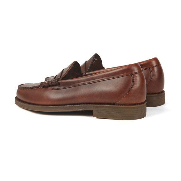G H Bass & Co Mens Brown Weejuns Larson Pull Up Loafer main image