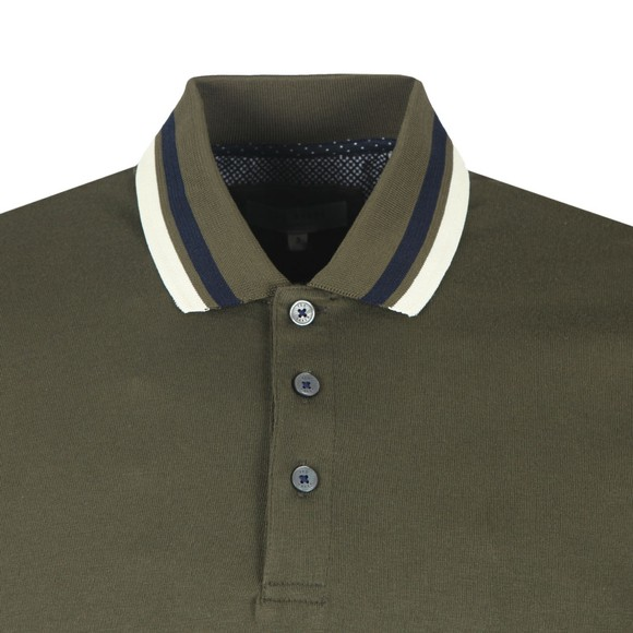 Ted Baker Mens Green Stripe Ribstart Polo main image