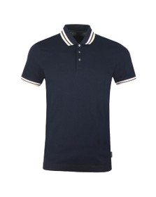 Ted Baker Mens Blue Stripe Ribstart Polo