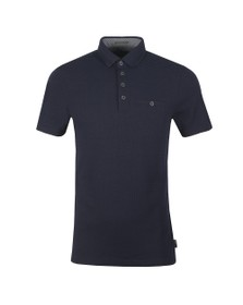 Ted Baker Mens Blue Textured Polo