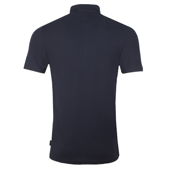 Ted Baker Mens Blue Textured Polo main image