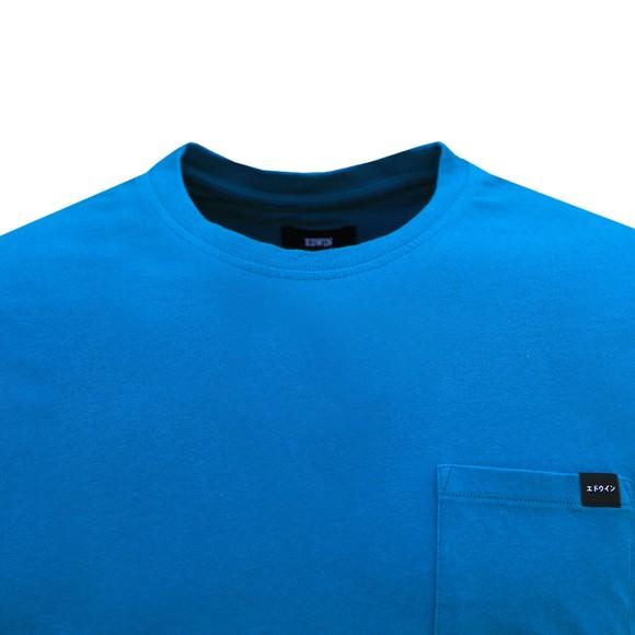 Edwin Mens Blue Pocket Crew T-Shirt main image