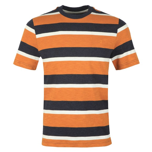 Farah Mens Gold Celtic Stripe Tee
