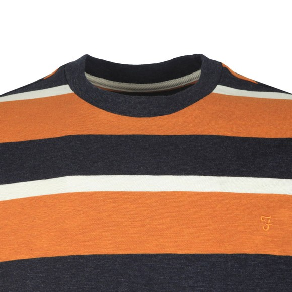 Farah Mens Gold Celtic Stripe Tee main image