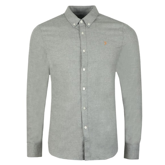 Farah Mens Grey Minshell Slim Shirt