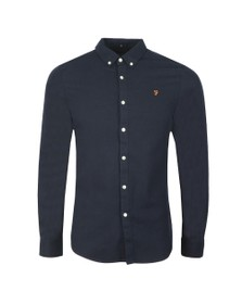 Farah Mens Blue Minshell Slim Shirt