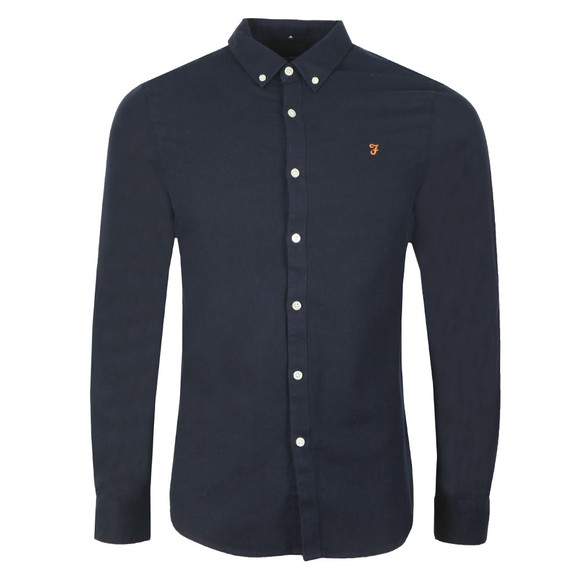 Farah Mens Blue Minshell Slim Shirt main image