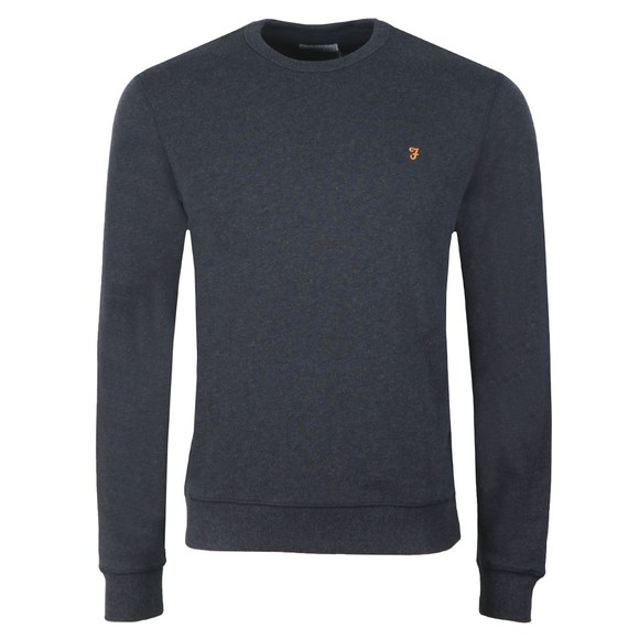 Farah Mens Blue Tim Crew Sweat