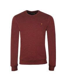 Farah Mens Red Tim Crew Sweat