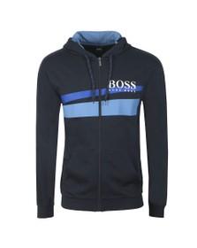 BOSS Bodywear Mens Blue Authentic Blue Stripe Hoody