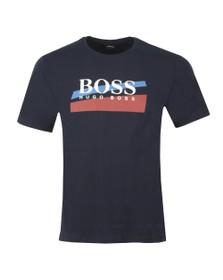 BOSS Bodywear Mens Blue Urban Blue Stripe T Shirt