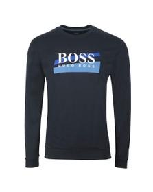 BOSS Bodywear Mens Blue Authentic Blue Stripe Sweatshirt