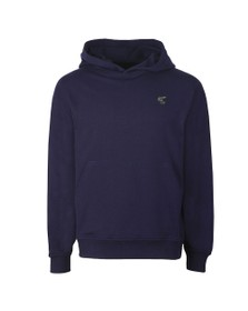 Vivienne Westwood Anglomania Womens Blue Small Badge Overhead Hoody