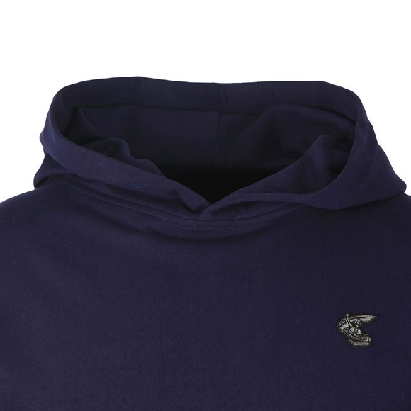 Vivienne Westwood Anglomania Womens Blue Small Badge Overhead Hoody main image