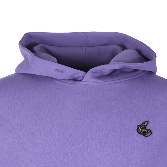 Vivienne Westwood Anglomania Womens Purple Small Badge Overhead Hoody main image