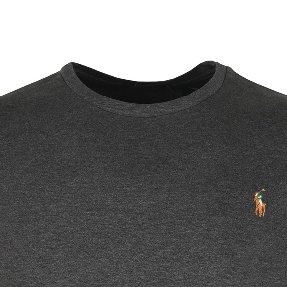 Polo Ralph Lauren Mens Grey Custom Slim Fit Pima Cotton T Shirt main image
