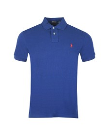 Polo Ralph Lauren Mens Holiday Sapphire Slim Fit Polo Shirt